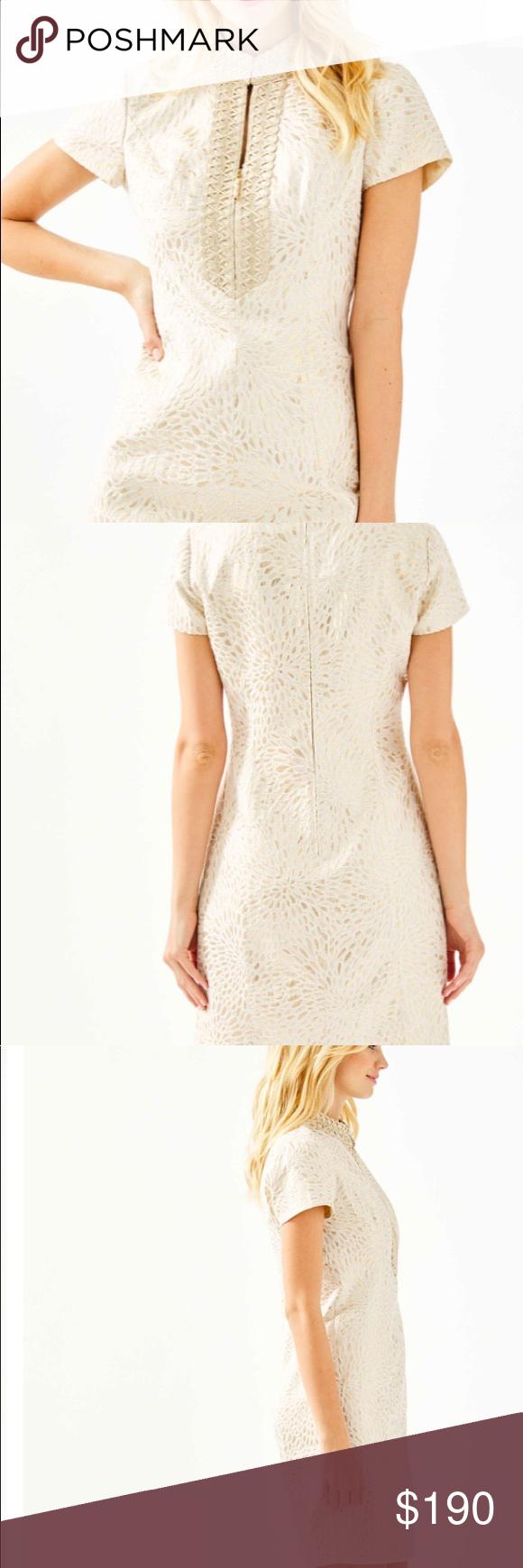 Lilly Pulitzer Adrena High Collar Shift Dress Shift Dress Short Dresses Dresses [ 1740 x 580 Pixel ]