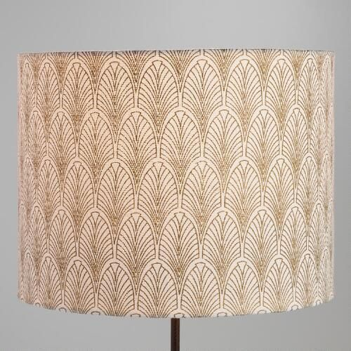 One Of My Favorite Discoveries At Worldmarket Com Gold Fan Cotton Drum Table Lamp Shade Table Lamp Shades Lamp Shade Rustic Lamp Shades