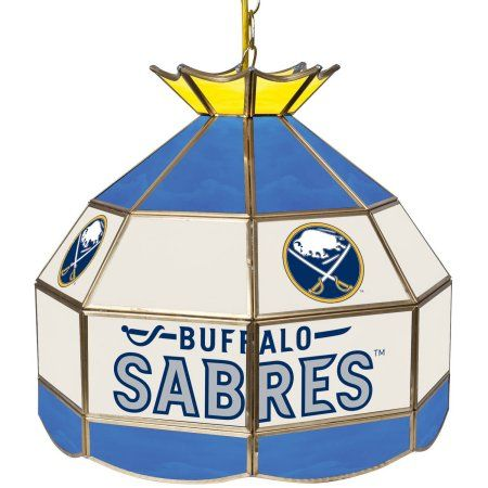 NHL 16 inch Handmade Tiffany Style Lamp, Buffalo Sabres, Multicolor