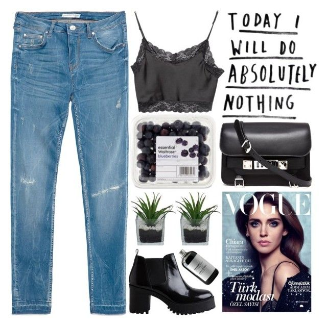 absolutely nothing by evangeline-lily on Polyvore featuring Brandy Melville, Zara, Pieces, Proenza Schouler, Sort of Coal, Threshold, denim, zara, pieces and brandymellville