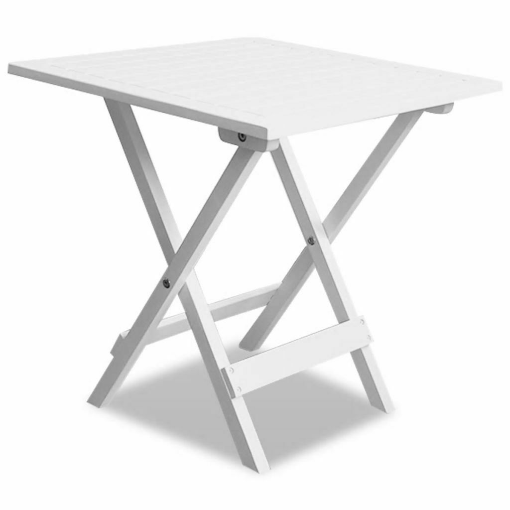 Vidaxl Table Basse Blanche En Bois D Acacia Table Pliante De