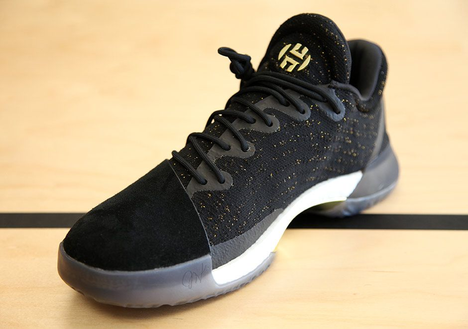 adidas Harden Vol. 1 Black Gold | James harden shoes, Adidas