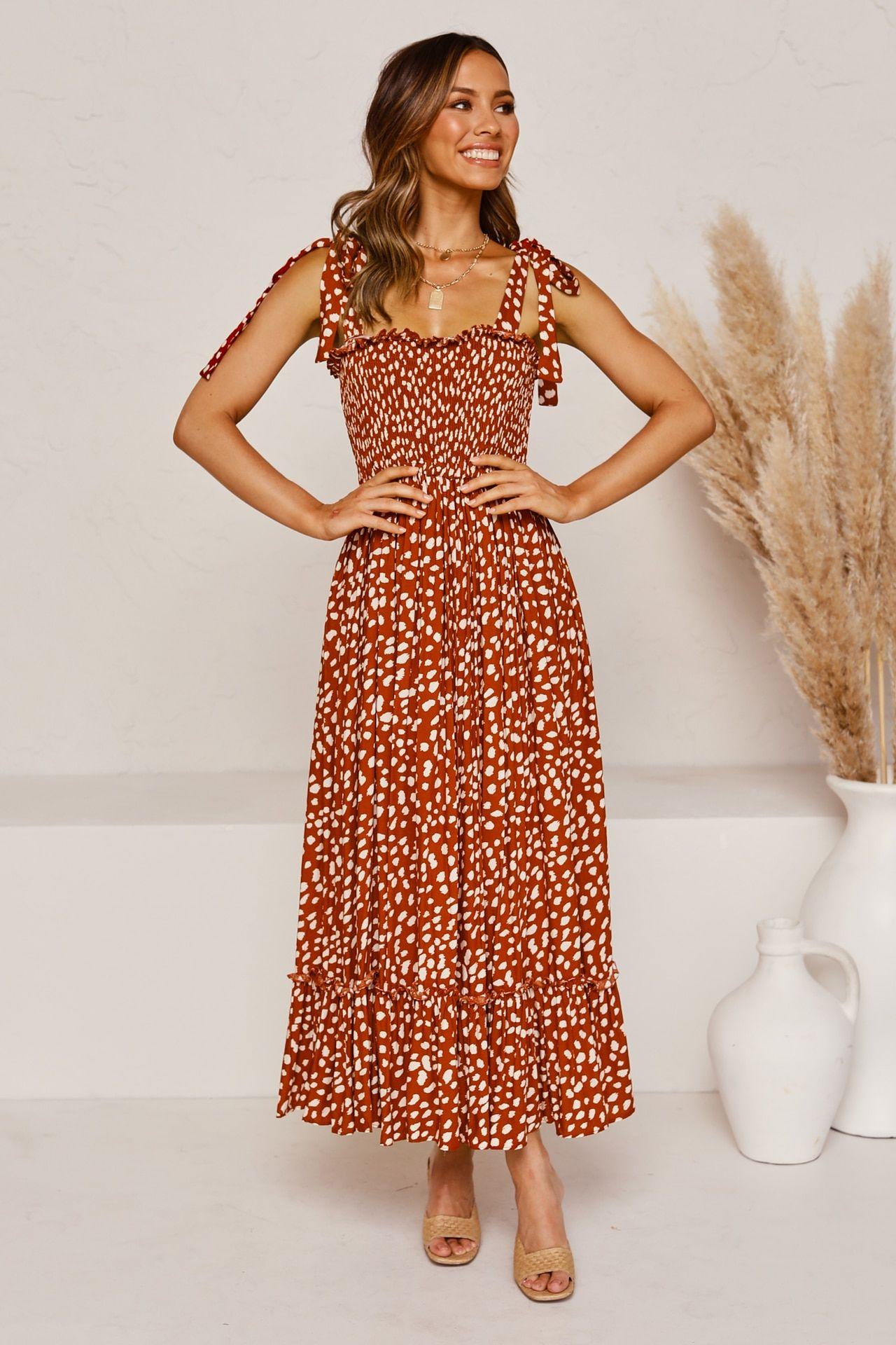 Venus Maxi Dress Rust Summer Dresses Strappy Summer Dresses Maxi Dress [ 1920 x 1280 Pixel ]