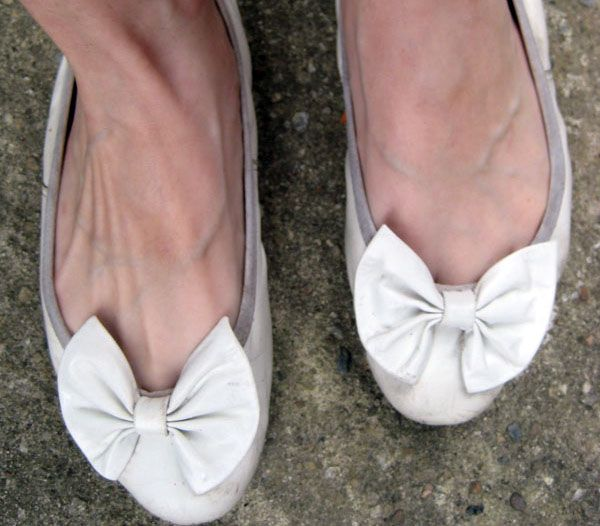 Sam and Libby's ballet flats...still remember the pink ones I had!!!