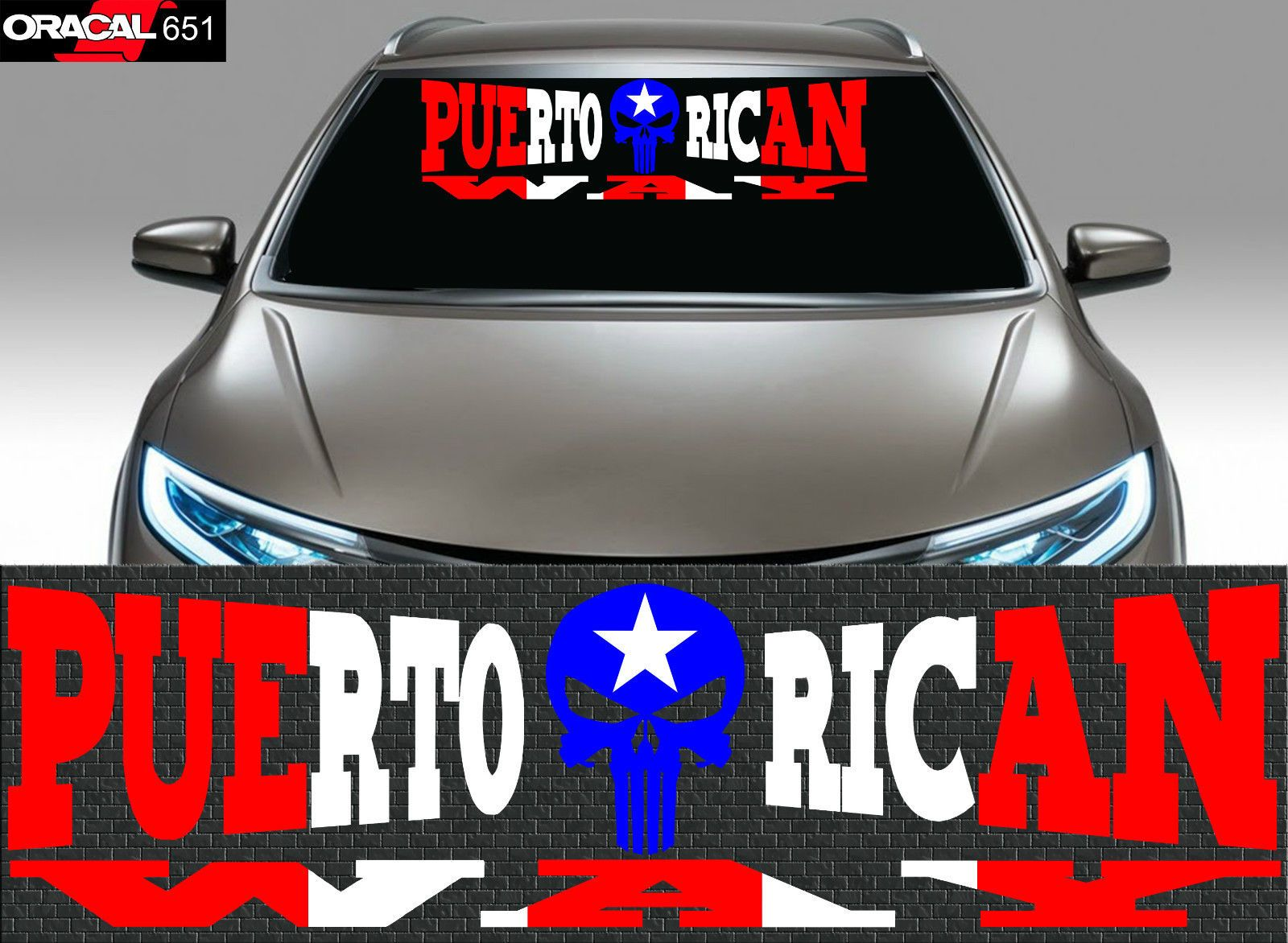 1 Puerto Rico Puerto Rican Flag Car Decal Vinyl Stickers 114 Car Decals Vinyl Puerto Rican Flag Vinyl Sticker
