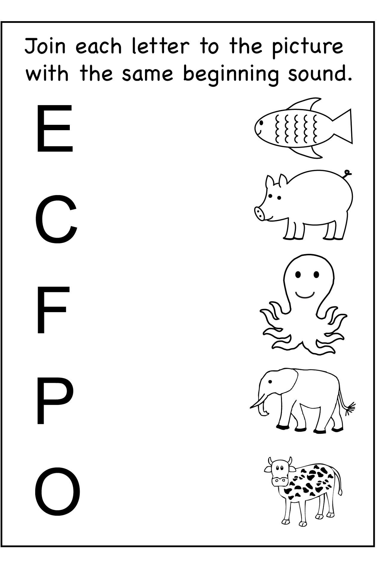 Printable Worksheets For Nursery In With Images