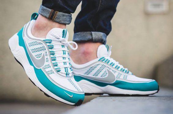 Now Available: Nike Air Zoom Spiridon White Silver Turbo Green • KicksOnFire .com