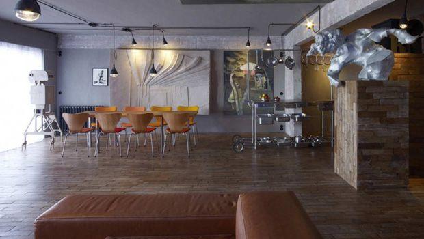 Décor do dia: madeira, concreto e cadeiras - Casa Vogue