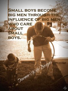 small boys, big men