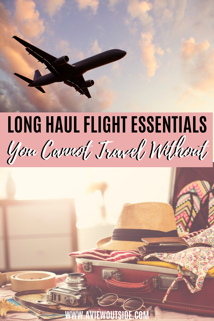 Everything you need to pack to enjoy a long haul flight. The ultimate list of long haul flight essentials.#longhaulflightessentials #handluggagetips #longflighttips #survivelonghaul #sleeplonghaul #flyingtips #whattopack