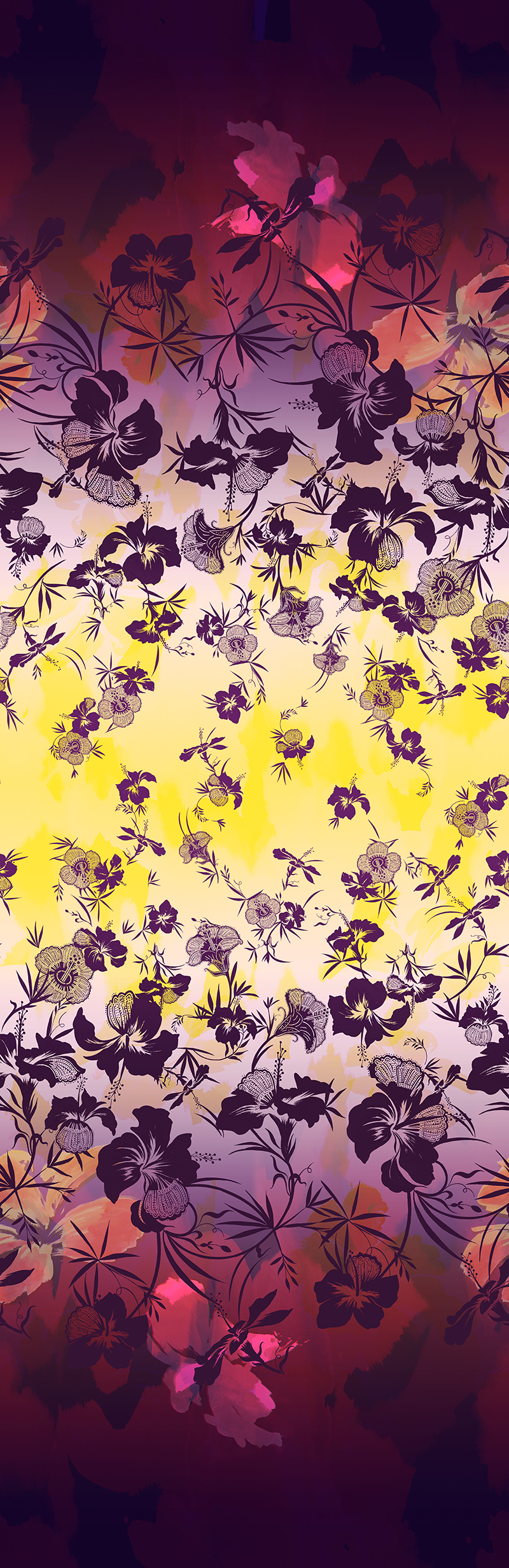 The Matthew Williamson Hibiscus Flower Print for SS15 in citrus and damson