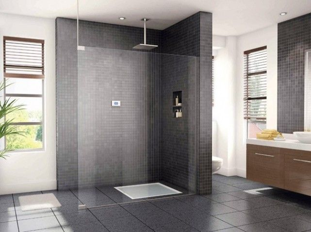 Une douche à l\'italienne | Modèles douche | Pinterest | Douches ...