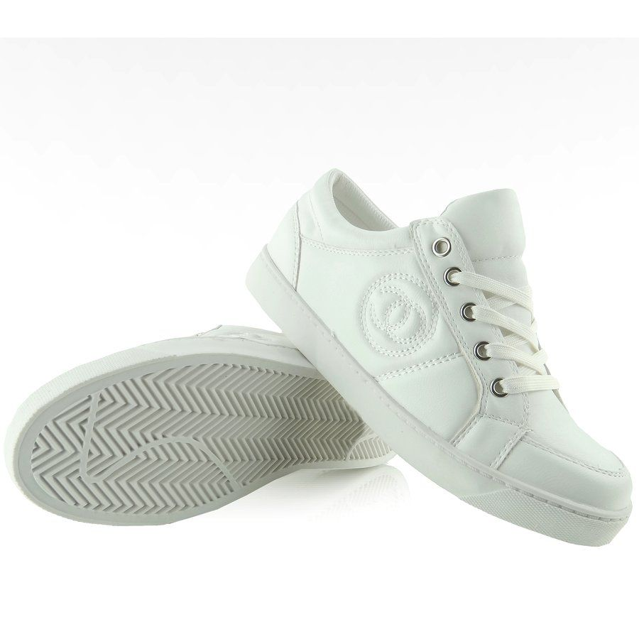 Trampki Chanelki Y612 41 White Bialo Zlote Biale Zolte Top Sneakers Golden Goose Sneaker Sneakers
