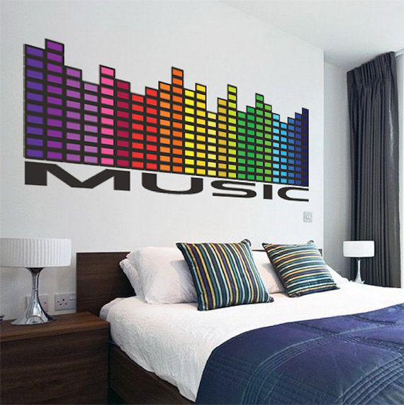 Funky Music Wall Decals Music Quotes In 2020 Music Wall Decal