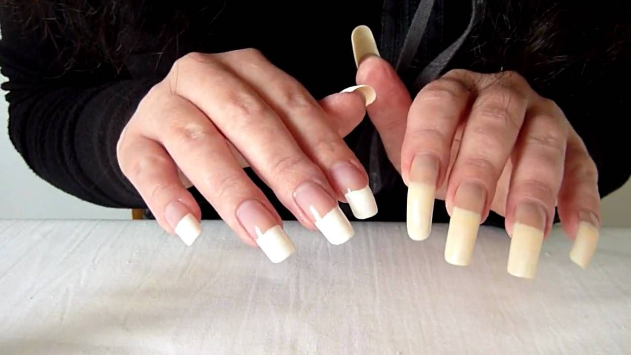 French Manicure Long Nails | Cool Nail Design Ideas | beautiful long ...