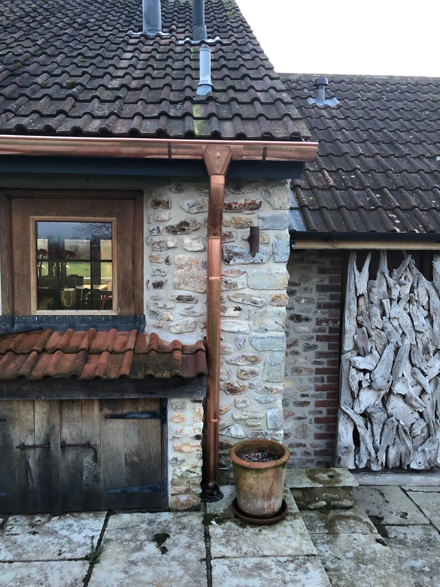 Our Half Round Copper Guttering And Round Downpipe Perfectly Suits This Gorgeous House In Taunton Beautiful Rus Rustic Materials Gorgeous Houses Rustic Copper
