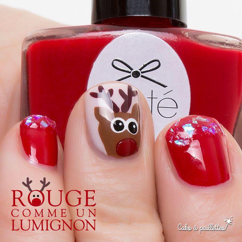 Rudolph vous salue ! http://cakoapaillettes.fr/blog/rouge-comme-un-lumignon/