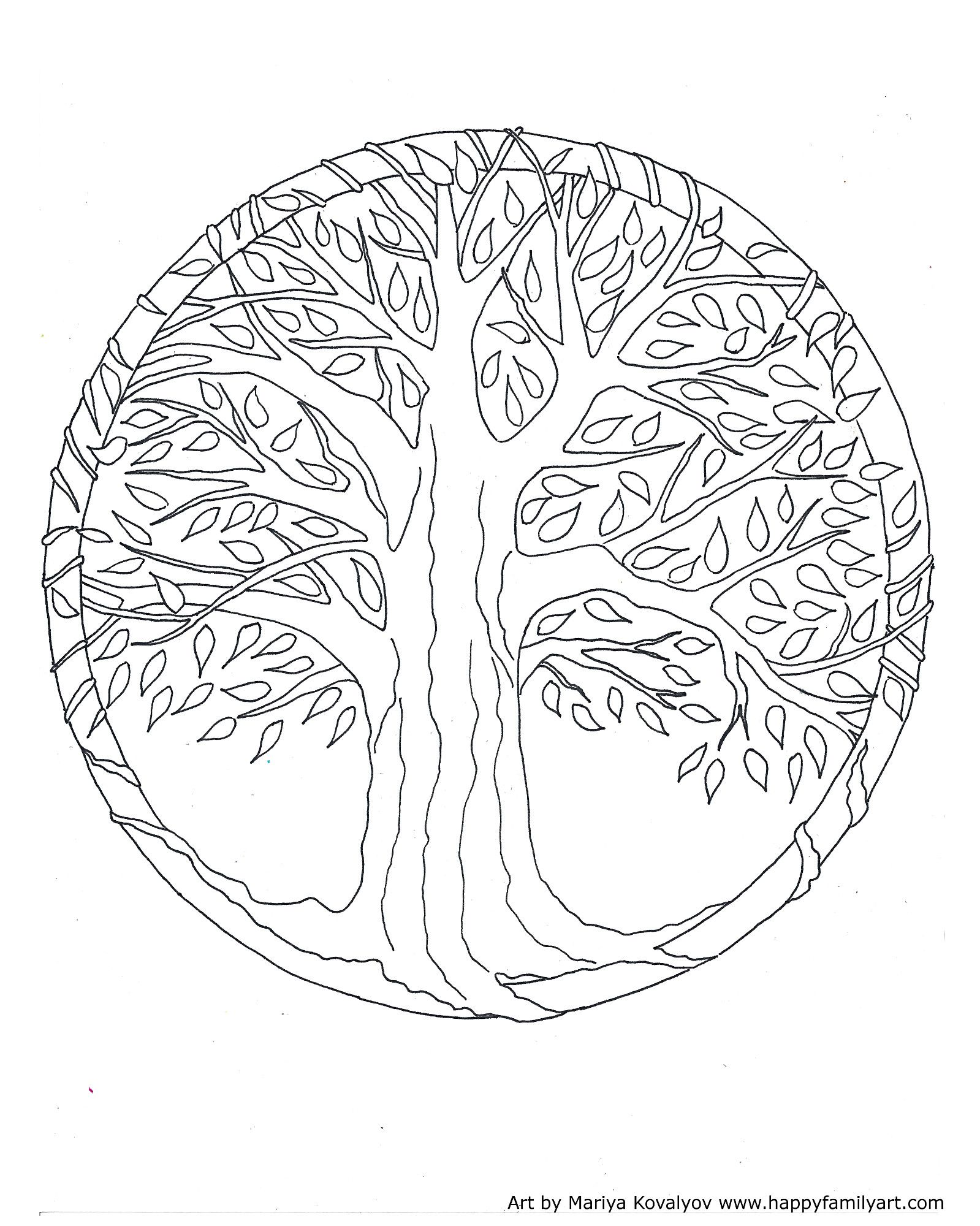 Tree Of Life Coloring Pages : coloring, pages, Happy, Family, Original, Coloring, Pages, Mandala, Pages,