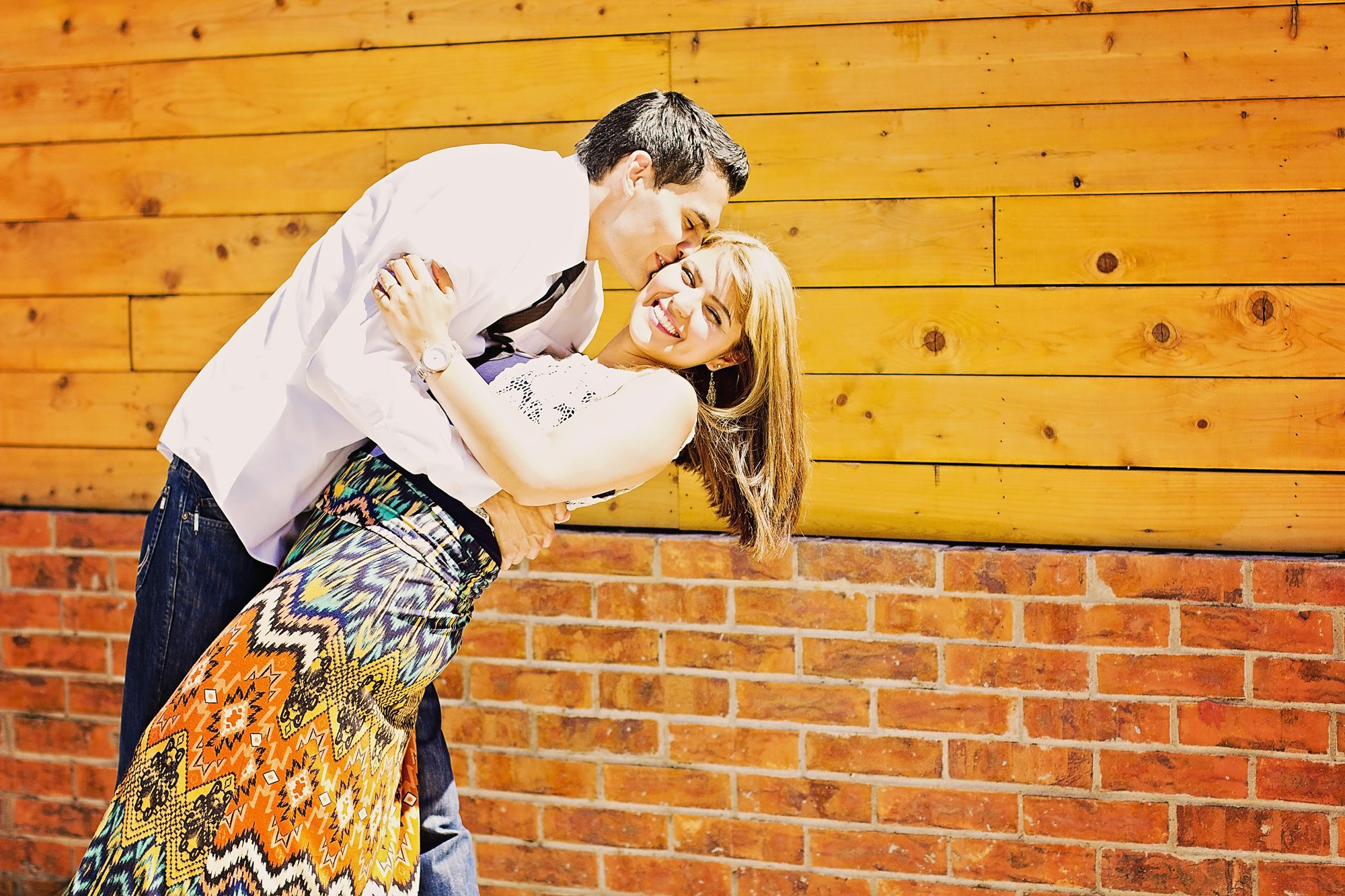Alyssa & Andrew totally dressed according to their style. She is a preschool teacher so her fun printed skirt really fit her personality! 224 Films El Paso Tx Wedding Photography & Videography