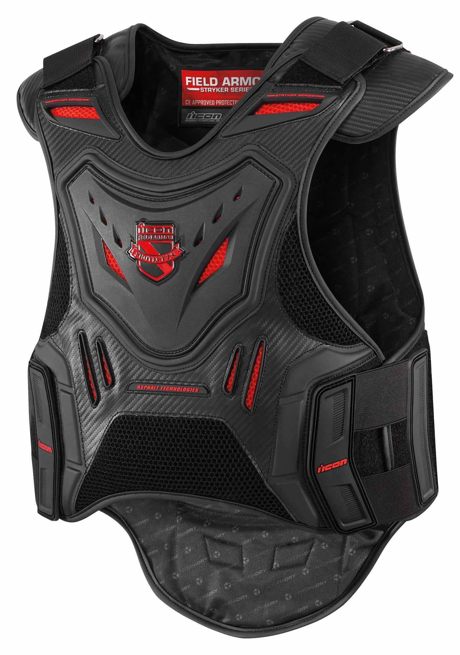 ICON FIELD ARMOR STRYKER VEST BLACK (Small / Medium 2701