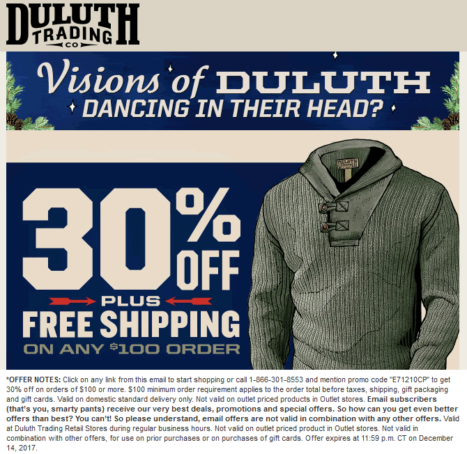 Pinned December 11th 30 Off 100 At Duluth Trading Co Or Online Via Promo Code E71210cp Thecouponsapp Shopping Coupons Duluth Trading Coupon Apps