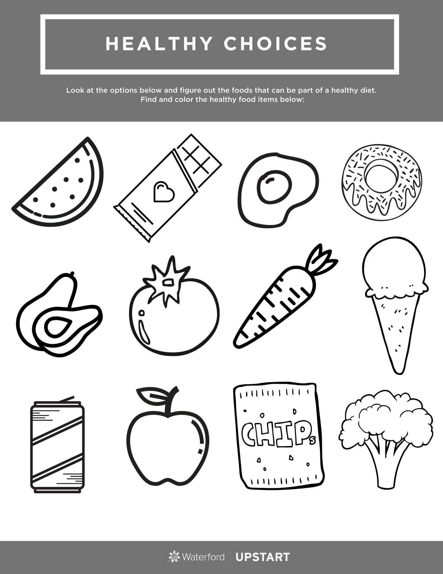 Healthy Choices Worksheet Healthy Choices Healthy Habits Kindergarten Healthy And Unhealthy Food