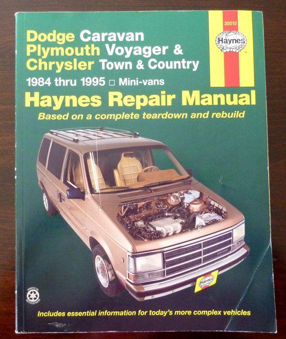 Vintage Haynes Repair Manual 30010 Dodge Caravan Plymouth Voyager Chrysler Town And Country 1984 Thru 1995 Mecanica De Motos