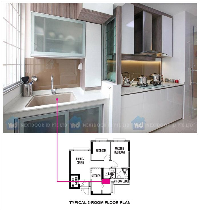 Punggo Matilda Court Bto Layout 06 Hdb Kitchen Dining Pinterest Matilda Room And House