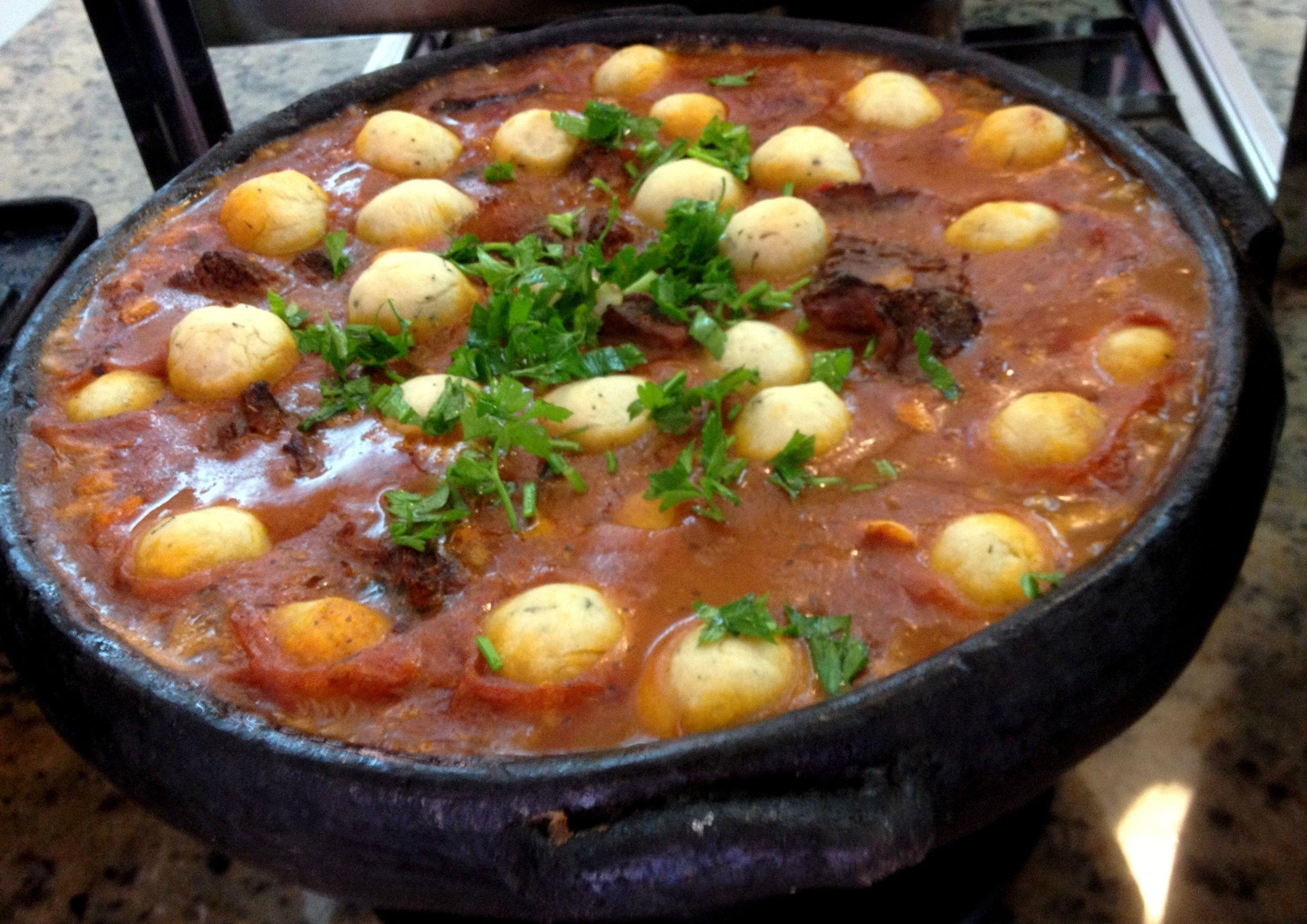 ensopado medieval medieval beef stew with dumplings