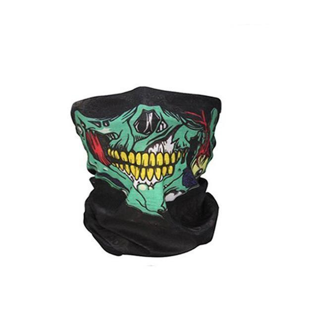 New Skull Classic Skeleton Novelty Skull Mask Scarf Headscarf Sport Headband Pick Skull Print Scarves 8 Colors Last Style Apparel Accessories