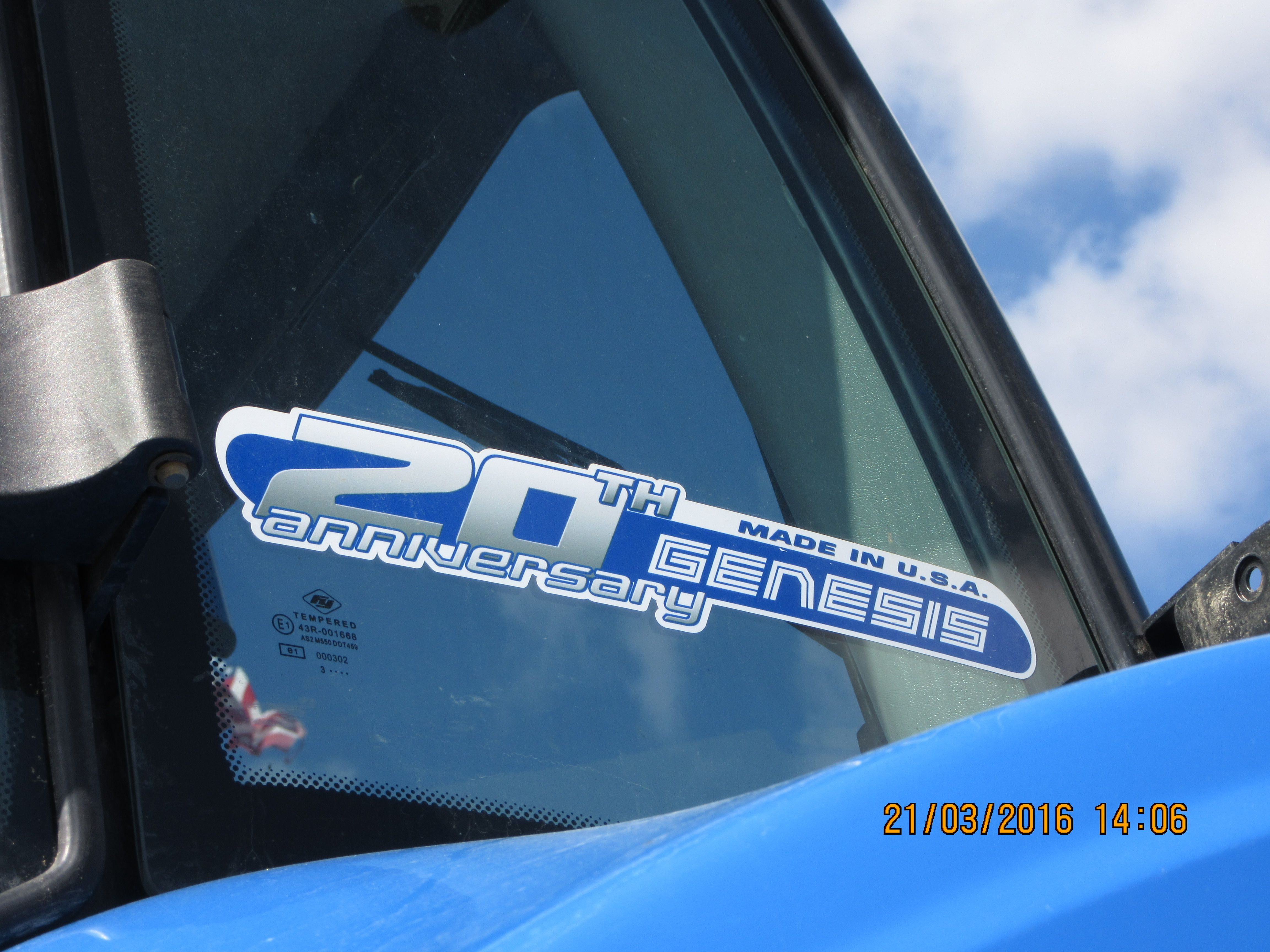 New Holland T8300 featuring 20th Anniversary Genesis tractor sticker
