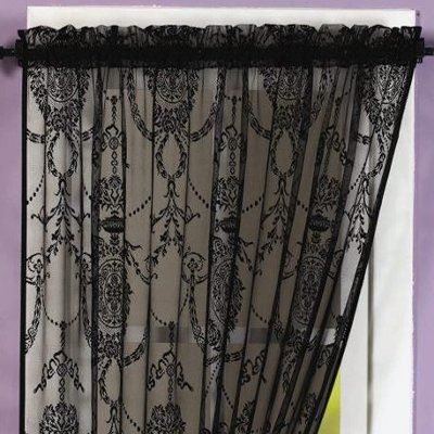 Holly Lace Panel Curtains For Privacy To Drape Above Bed