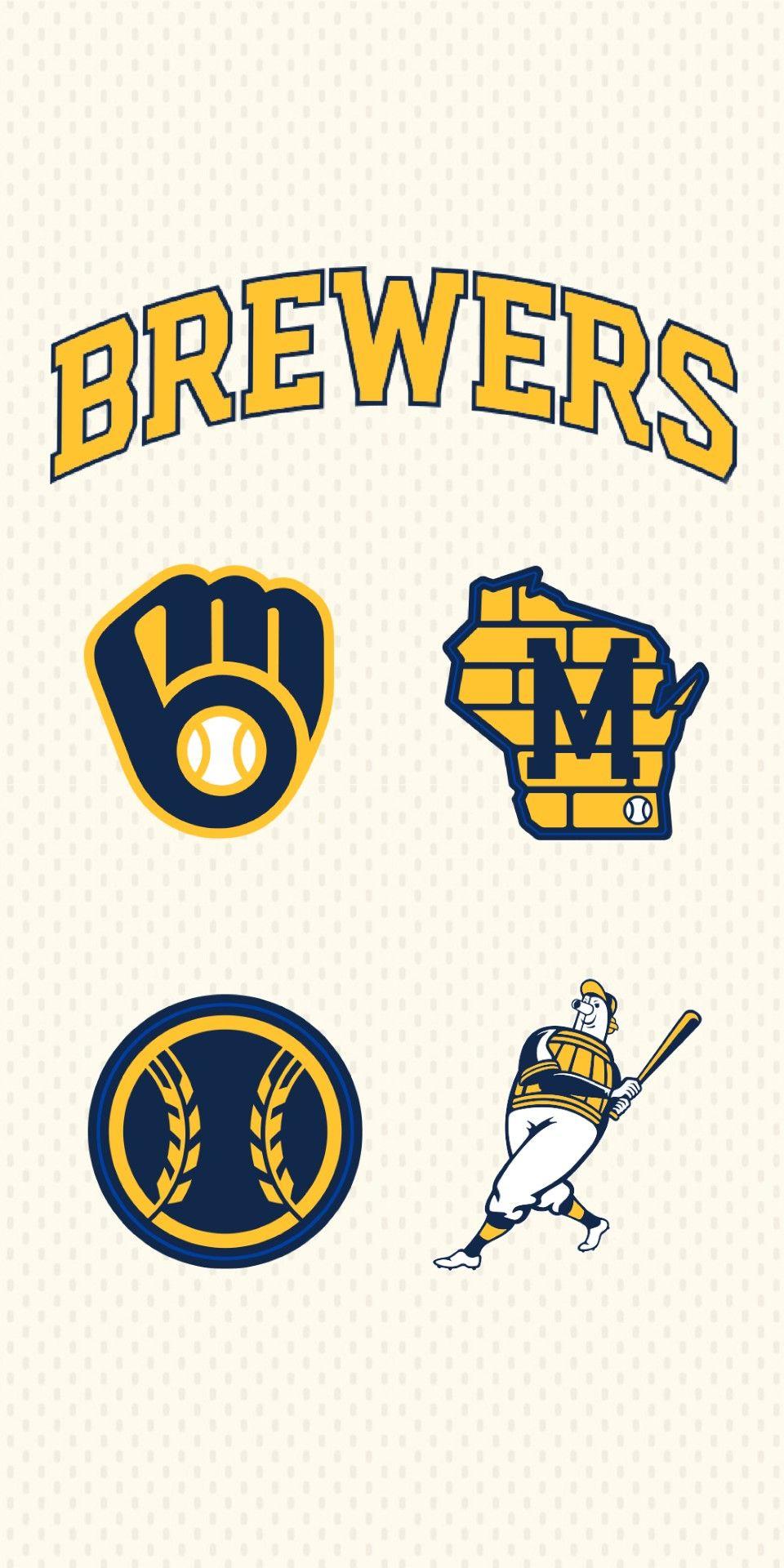 Brewers New School Wallpaper2 Milwaukee Brewers Brewers Baseball Milwaukee Brewers Baseball