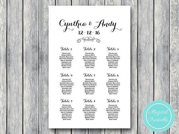 find your seat chart printable wedding seating chart wedding