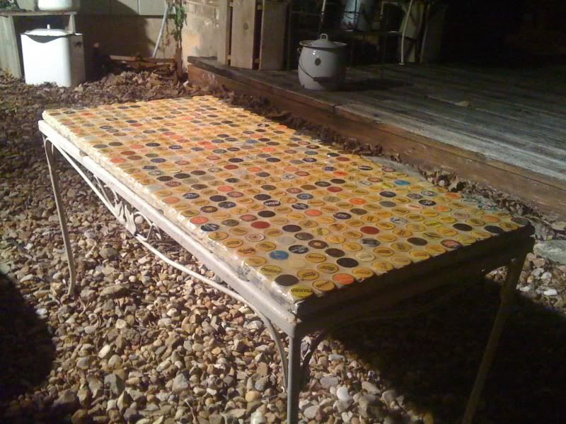 Strange Outdoor Coffee Table Using Bottle Caps Magic Hat Sayings Download Free Architecture Designs Barepgrimeyleaguecom