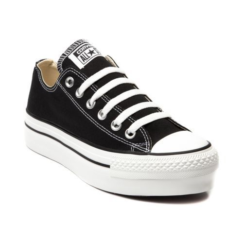 all star converse negras mujer