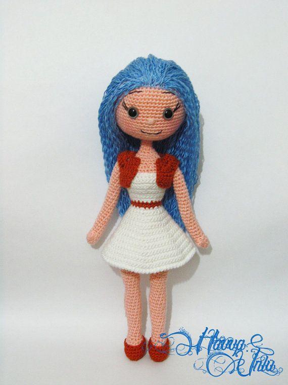 PATTERN BlueHaired Doll crochet amigurumi por HavvaDesigns en Etsy ...