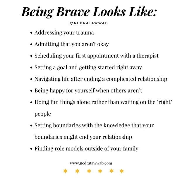 """Nedra Glover Tawwab, Therapist on Instagram: """"{You are braver than you think.}  Every day you make hard choices that others cannot and will not. You are practicing being…"""""""