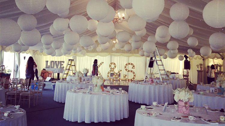 Wedding Angels Decorating Ltd: Lampionnen Bruiloft Decoratie