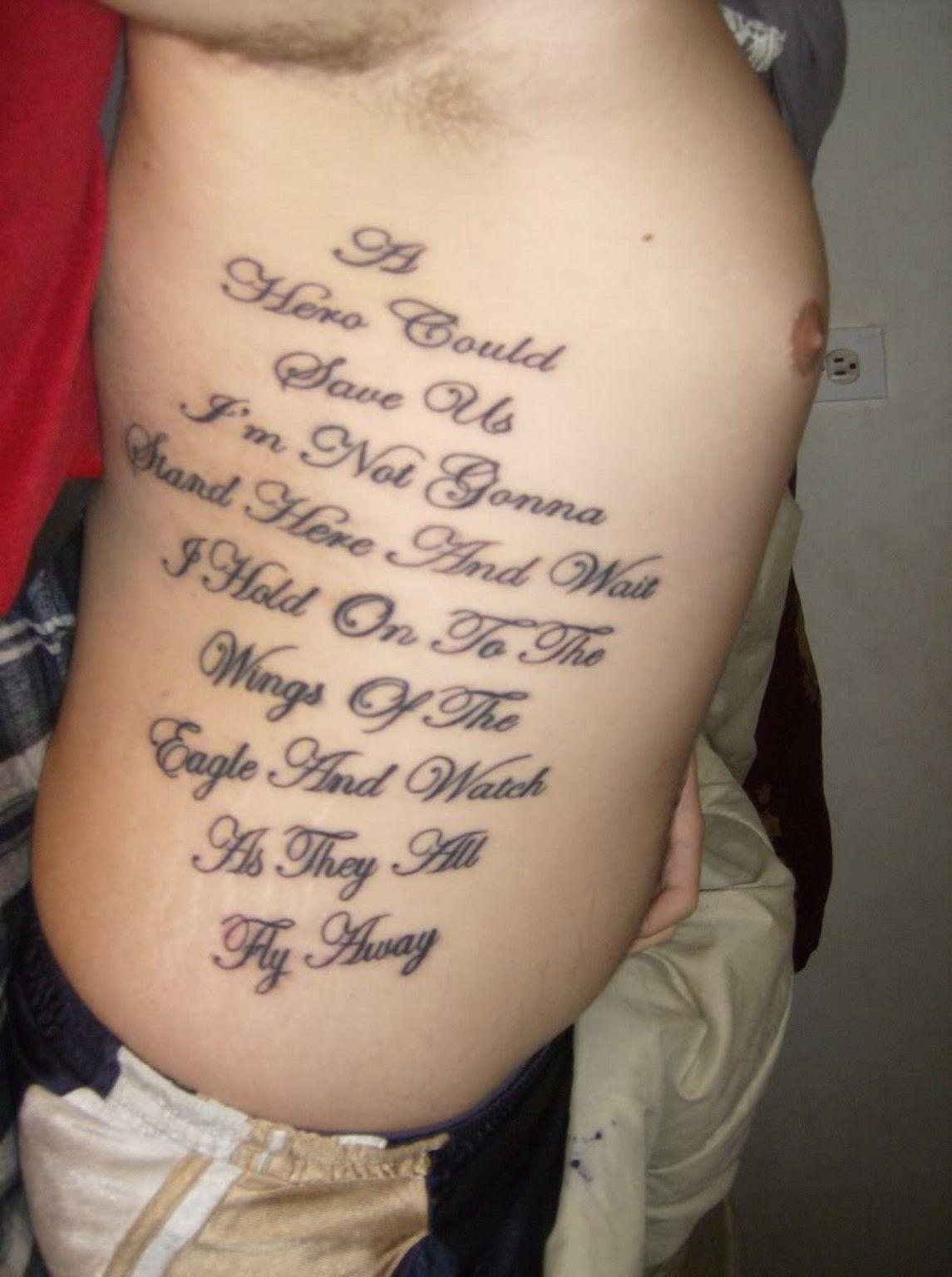 rib tattoos #tattoosdesigns - more designs at stylendesigns