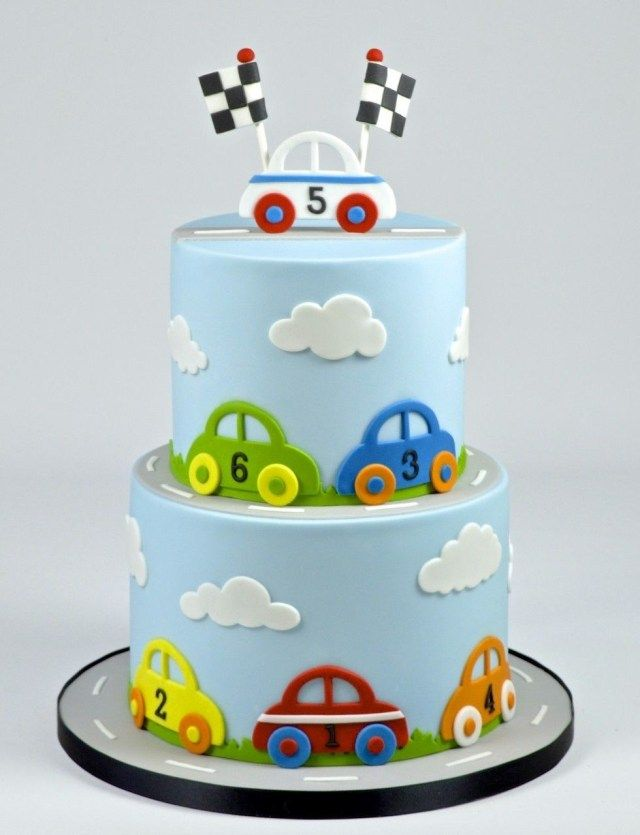 24 Excellent Picture Of Birthday Cake 2 Year Old Boy Birthday Cake 2 Year Old Boy Car Cake F Cars Birthday Cake Childrens Birthday Cakes Baby Birthday Cakes
