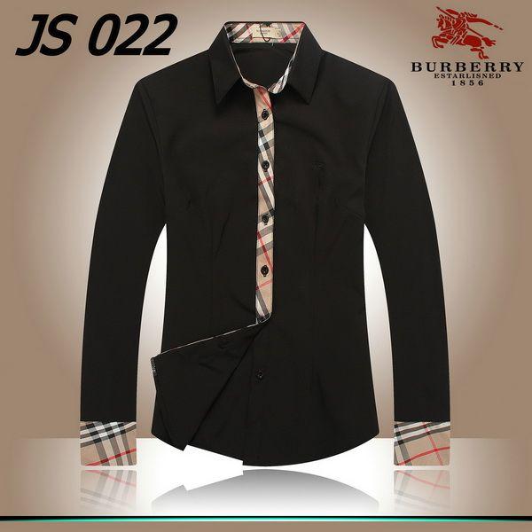 black long sleeve burberry shirt