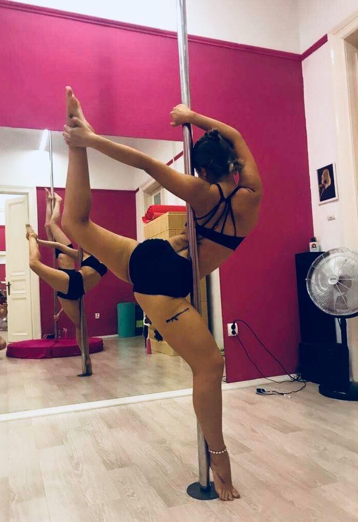 Variación de pretzel | Pole dancing fitness, Pole fitness ...
