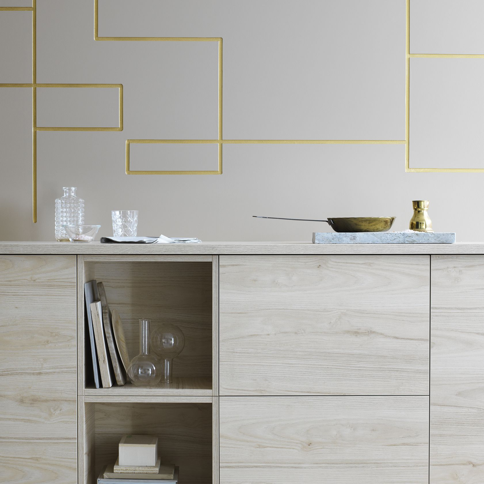 Create a modern look of ash in the kitchen with ASKERSUND fronts ...