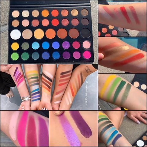 SWATCHES🔥 of Morphe x James Charles Artistry Palette ($39 ...