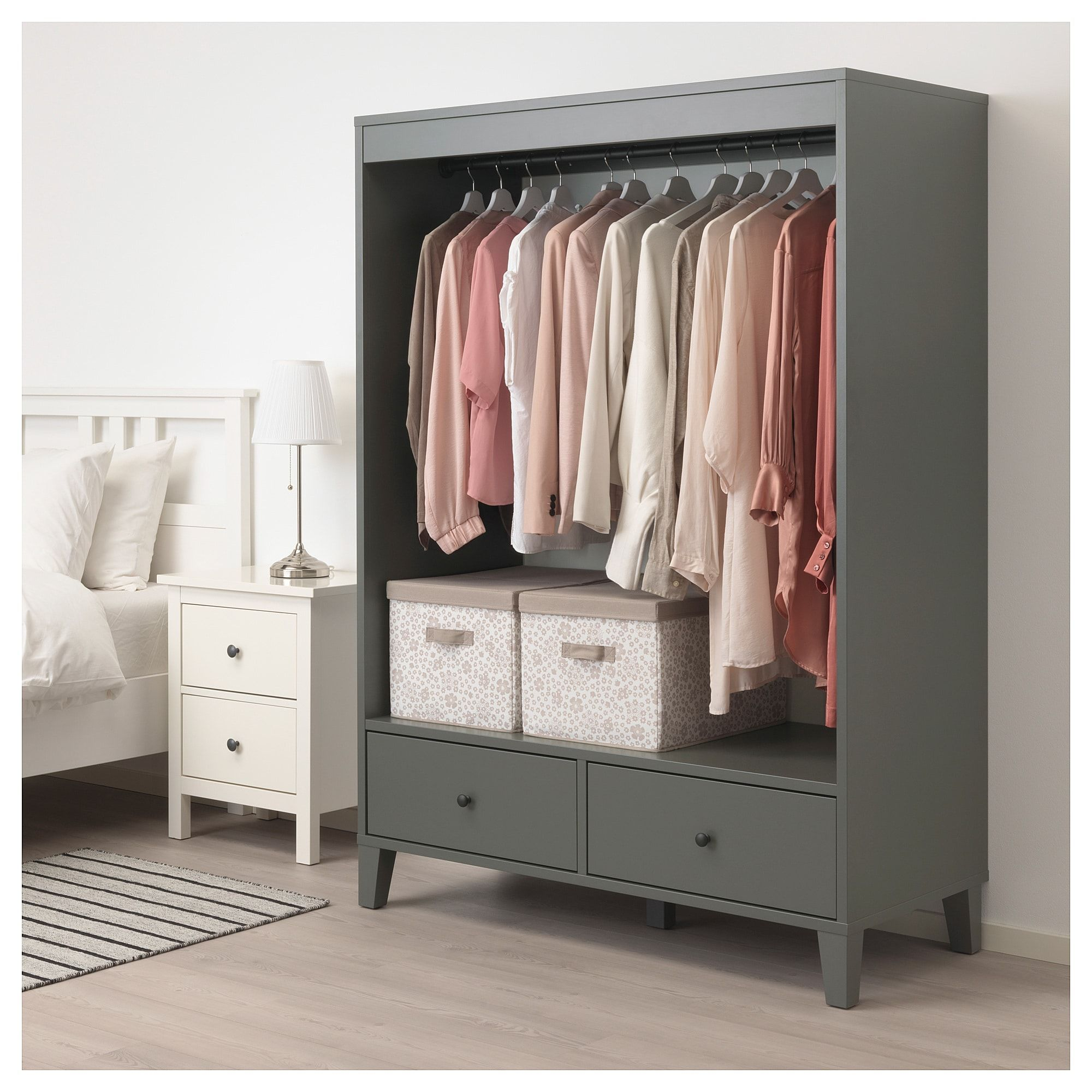 Wardrobe Living Room Storage Ikea Bryggja Open Wardrobe Dark Gray Open Wardrobe Ikea Open Wardrobe Open Closet