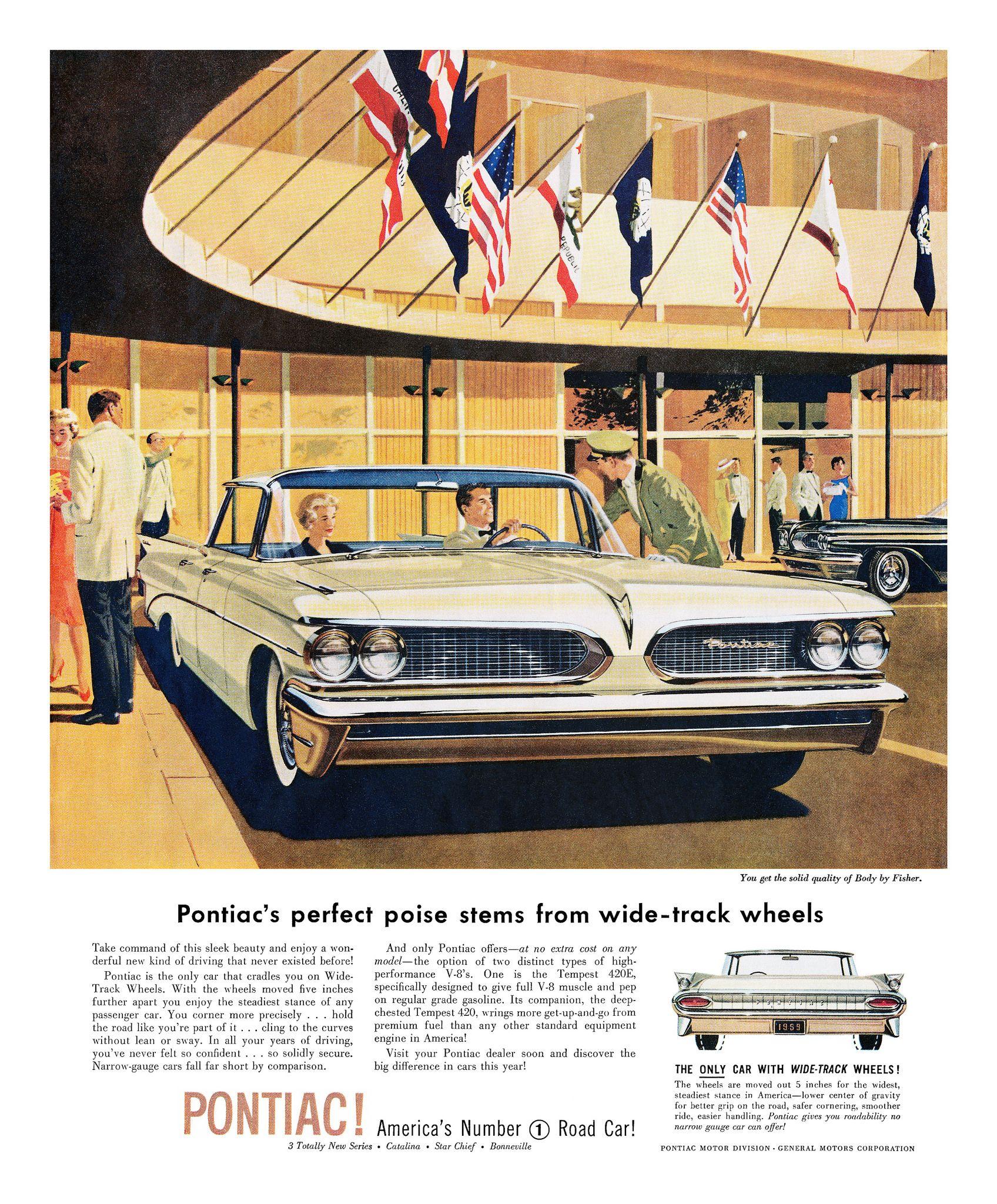 Vintage Pontiac Dealership: PONTIAC: THE WIDE-TRACK YEARS