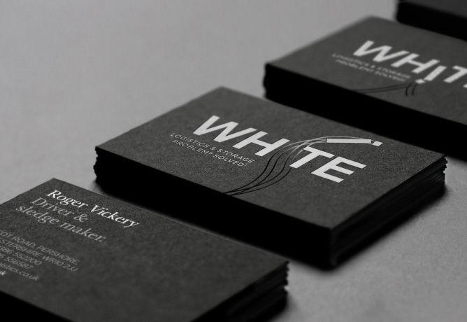 White Logistics brand business cards  | Logistics Branding