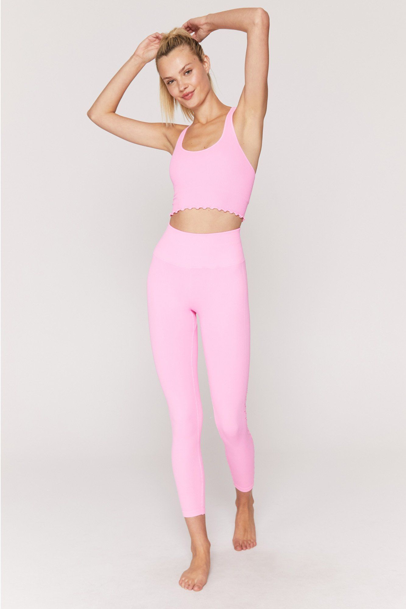 Cotton candy mesh two piece