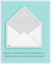 Free A7 Envelope Liners And Template Paper Art Pinterest